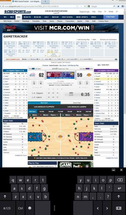 The Full HD screen can display a lot of info, especially in portrait mode, and this is perfect for basketball season.