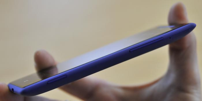 HTC says the edges of the Windows Phone 8X have been sculpted to fit comfortably in a users hand.