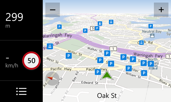 Nokia Drive offers free turn-by-turn navigation with the ability to download maps.
