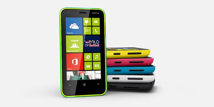 """The Lumia 620 makes use of what is described as a """"dual-shot colour technique""""."""