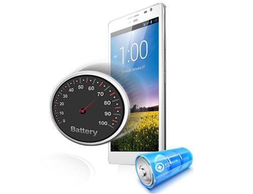 """The Huawei Ascend Mate has a huge 4050mAh battery which the company says will provide up to two days of """"ordinary usage""""."""