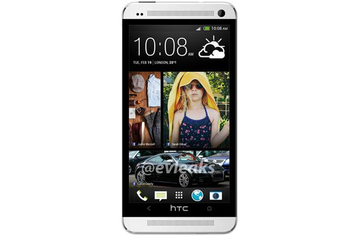 The first leaked image of the HTC smartphone, published last week. (Image credit: @evleaks)