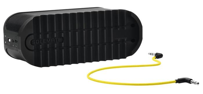 The Solemate includes a standard 3.5mm audio jack in addition to Bluetooth connectivity.