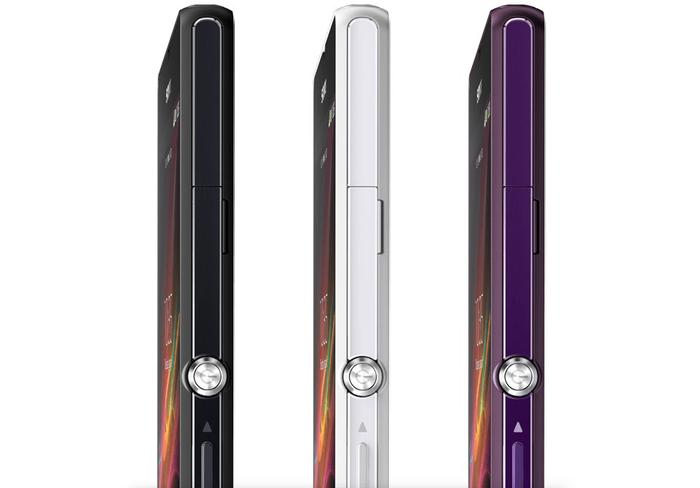 Only Telstra will stock white and purple models of the Xperia Z.