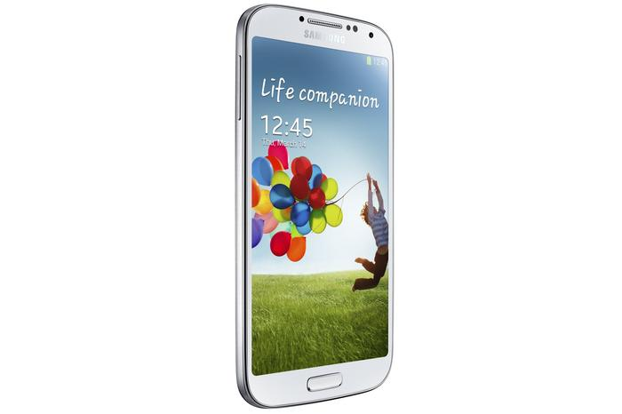 The Galaxy S4 retains a similar look and feel to its predecessor, the Galaxy S III.