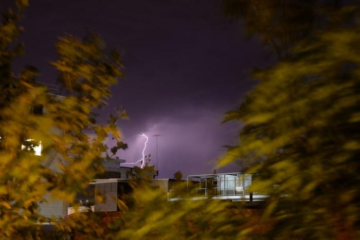 We used bulb mode to capture this lightning bolt.
