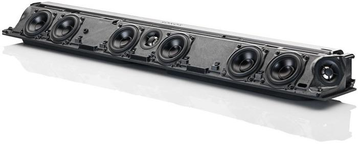 The PLAYBAR sans speaker grille and outer shell.