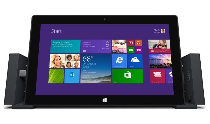 The new docking station allows the Surface Pro 2 to be used more easily as a desktop computer.