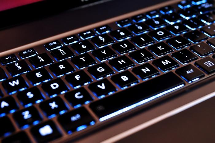 The backlit keyboard can be switched on permanently, or used with the timer. it looks great.