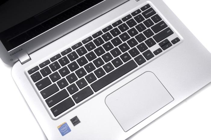 The keyboard is comfortable to use overall, and the touchpad is large and accurate.