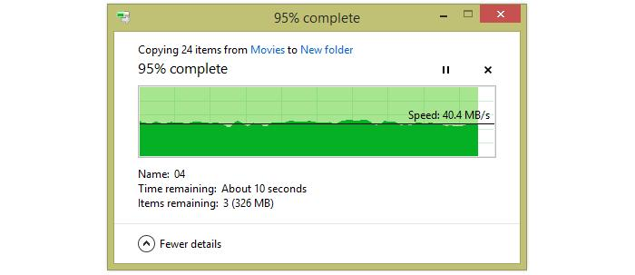 Transferring big files from the short distance.
