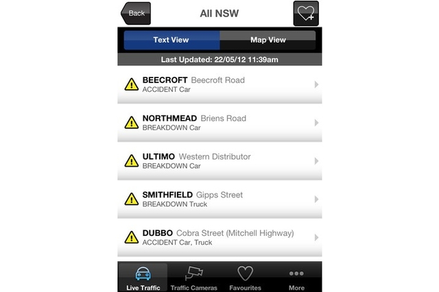 App review Live Traffic NSW for iOS