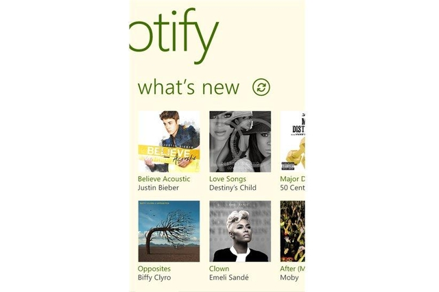 Spotify app for Windows Phone