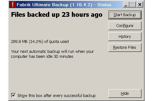 SimpleTech/Hitachi Global Storage Solutions Fabrik Ultimate Backup Home