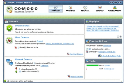 Comodo Internet Security Pro 3.8