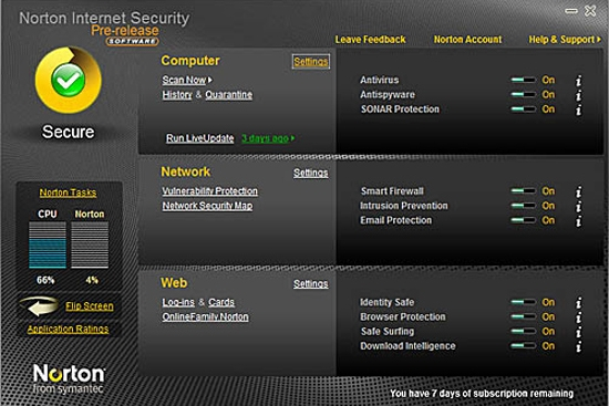Symantec Norton Internet Security 2010